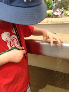 Playground fun with sand